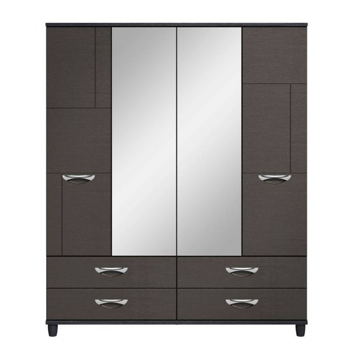 Moda 4 Door Centre Mirrored Gents Robe